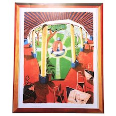David Hockney Views of Hotel Well III Signed Poster