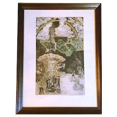 Original German Intaglio Print of Circus