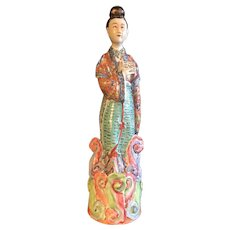 Chinese Lady with Tablet Figure