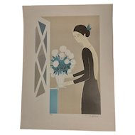 """Serge Lassus Serigraph """"Flower Arrangement"""" Hand Signed and Numbered"""