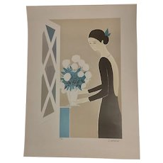 "Serge Lassus Serigraph ""Flower Arrangement"" Hand Signed and Numbered"