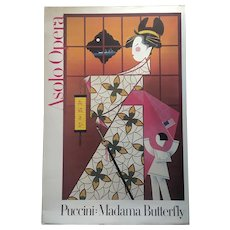 1979 Advertisement Poster Asolo Opera Madame Butterfly Poster