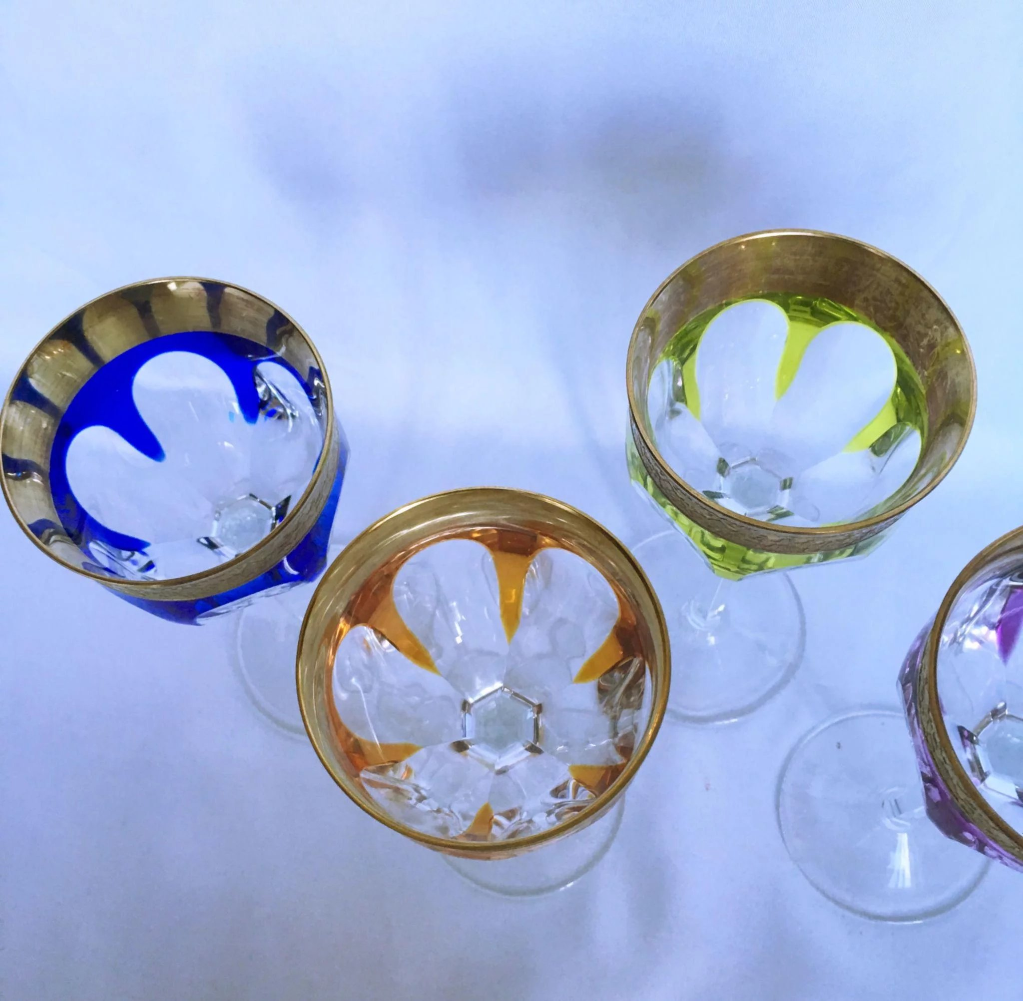 Four Moser Crystal Wine Glasses The Ubiquities