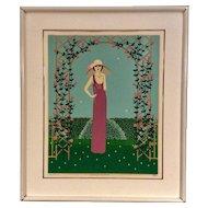 "Serigraph ""Sidney's Mother"" by Shigeo Okumura (Oku)"