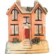 Antique Staffordshire Cottage/Money Bank