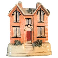 Antique Staffordshire Cottage/Money Bank