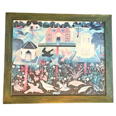 "Anna Pugh Framed Print ""Bird's Table"""