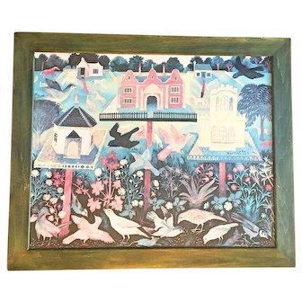 """Anna Pugh Framed Print """"Bird's Table"""""""
