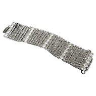 Stunning Wide Vintage Rhinestone Bracelet