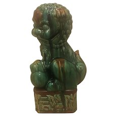 Large Ceramic Green Sancai Glazed Foo Dog