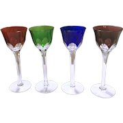 Four Fine Crystal Sherry Glasses 6 3/4 Inches