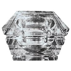 LUCITE Mid-Century Ice Bucket, Swivel Cover, Alessandro Albrizzi Design, 1970s