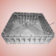 Mid-Century Covered Lucite Vanity/Handkerchief Box