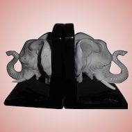 FITZ & Floyd Jungle Safari Elephants Ceramic Bookends