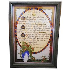 The Rosary, Early 20th Century Framed Motto Print by Robert Cameron Rogers