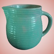 Monmouth Pottery Light Green Ribbed Milk Pitcher