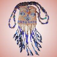 Peyote Stitch Woven Beaded Vintage Amulet Bag