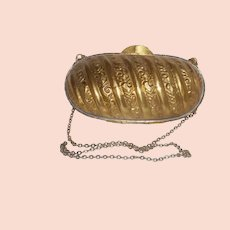 Vintage Small Brass Shoulder Purse