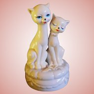 Rotating Musical Siamese Cats, Plays True Love, 1950's