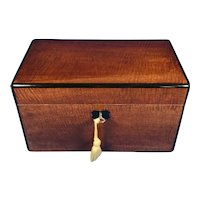 Victorian fiddle back Mahogany box.