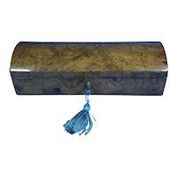 William IV Burr Walnut Glove Box.