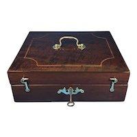 18th Century Mahogany Box.