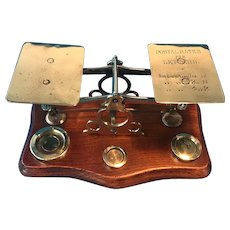 Antique  Victorian brass letter scales