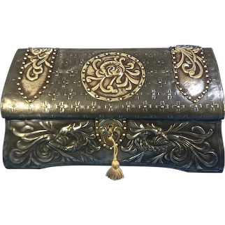 French Pewter Arts and Crafts box.