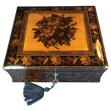Victorian Tunbridge ware inlaid Jewellery Box.