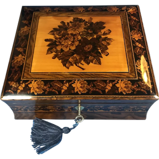 Victorian Tunbridge ware inlaid Jewellery Box.