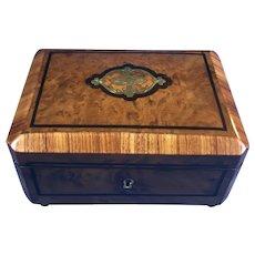 19th Century French Burr Cedar box