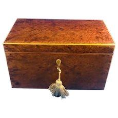 George III Amboyna Tea Caddy