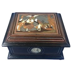 18th Century Italian Rosewood Casket With inlay.