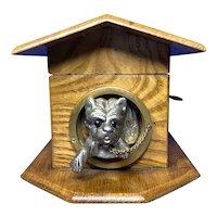 Victorian French Chestnut  Dog Kennel Money Box.