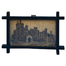 Victorian Tunbridge Ware Mosaic Picture Of Eridge Castle.