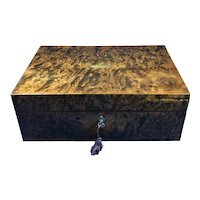 French 19th Century Burr Mulberry Box