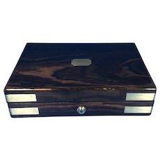 Victorian Brassbound Coromandel Box.