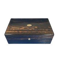 Victorian Brass Inlaid Coromandel Box.