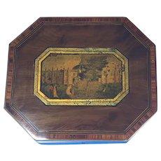 George III Octagonal  Yew  Inlaid Table Box.