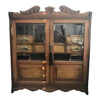 Edwardian Oak Jewellery cabinet dating back to c.1910