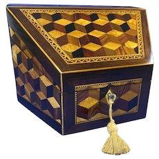 Victorian Tunbridge Ware Stationery Box.