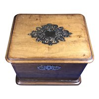 Victorian Olive wood Jewellery Box.