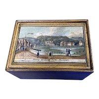 Georgian White wood Tunbridge ware box dating back to c.1810