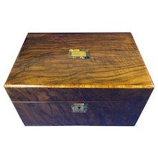 Victorian Walnut Jewellery Box.