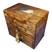 """Georgian Mahogany Apothecary Box """"Thompson London"""""""