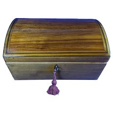 George III Applewood Box With Inlay.