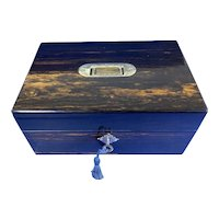 Victorian Coromandel Fitted Jewellery Box.