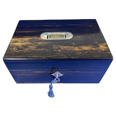 Victorian Coromandel Fitted Jewellery Box.