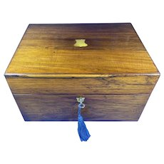 Victorian Rosewood Jewellery Box with a side drawer.