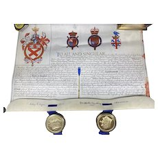 Queen Elizabeth II Grant For A Name and Coat Of Arms,